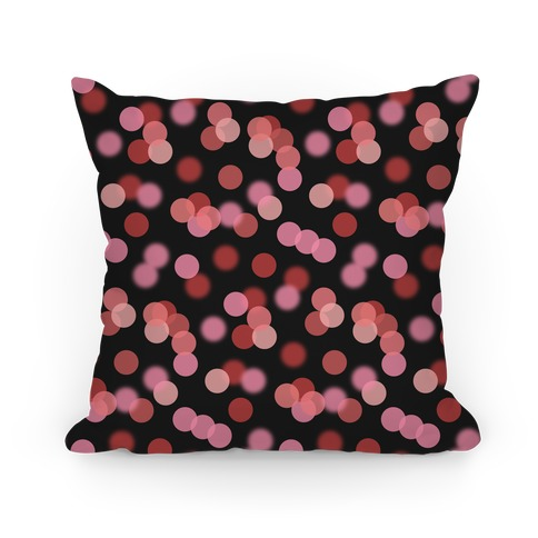 Red Glitter Bokeh Pattern Pillow