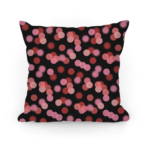 Red Glitter Bokeh Pattern Pillow