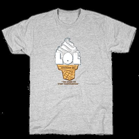 LOL Ice Cream Mens T-Shirt
