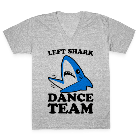 Left Shark Dance Team V-Neck Tee Shirt
