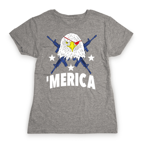 Bald Eagle Bearing Arms Womens T-Shirt