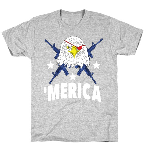 Bald Eagle Bearing Arms T-Shirt
