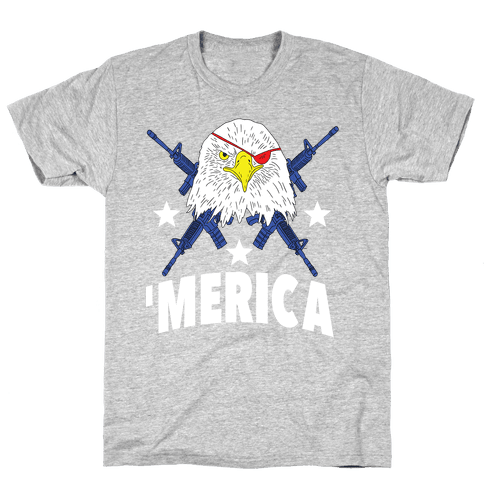 Bald Eagle Bearing Arms Mens T-Shirt