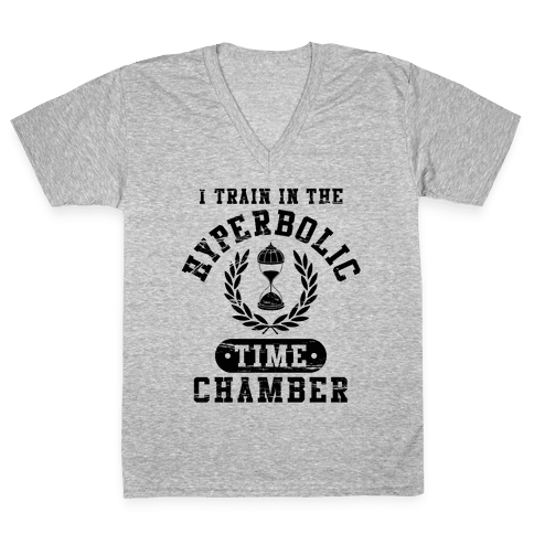 Hyperbolic Time Chamber (Distressed) V-Neck Tee Shirt