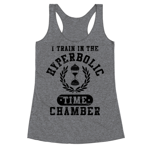 Hyperbolic Time Chamber (Distressed) Racerback Tank Top