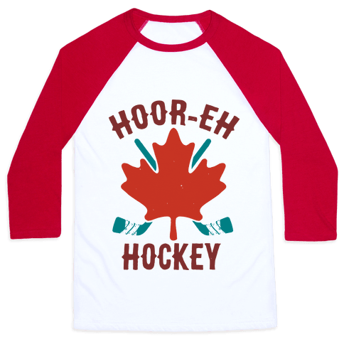 Hoor-Eh Hockey Baseball Tee