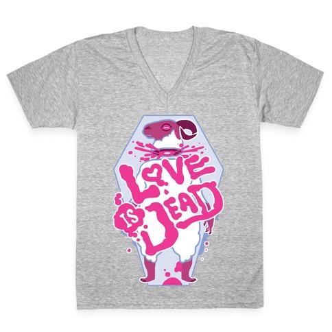 Love Is Dead V-Neck Tee Shirt