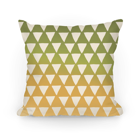 Triangle Ombre Pattern Pillow