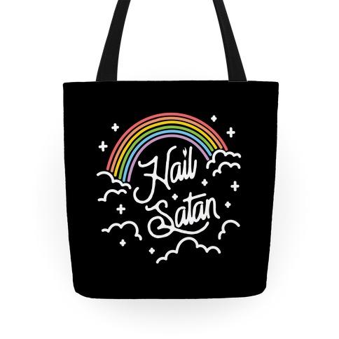 Hail Satan Rainbow Tote