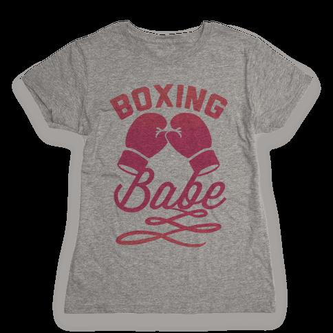 Boxing Babe Womens T-Shirt