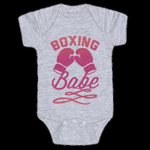 Boxing Babe Baby Onesy
