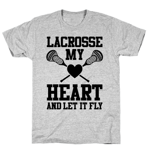Lacrosse My Heart Mens T-Shirt