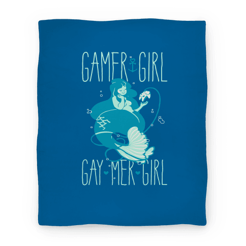 Gamer Girl Gay Mer Girl Blanket Blanket