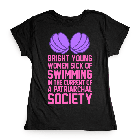 Feminist Mermaid Womens T-Shirt