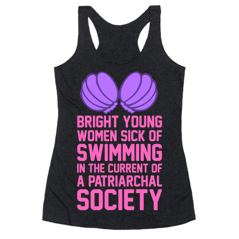 Feminist Mermaid Racerback Tank Top