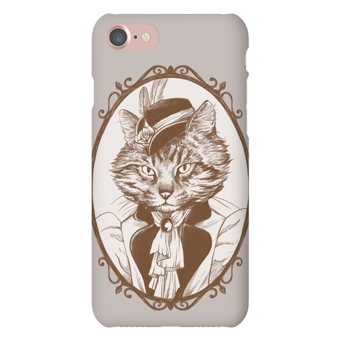 Victorian Portrait of Cat Lady Phone Case