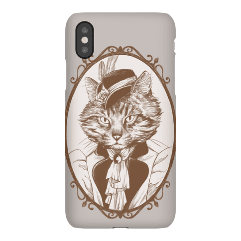 Victorian Portrait of Cat Lady Phone Case