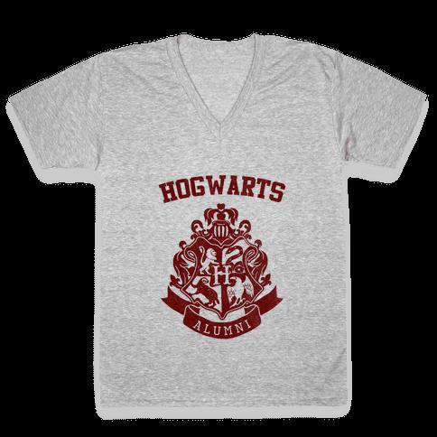 Hogwarts Alumni (Gryffindor) V-Neck Tee Shirt