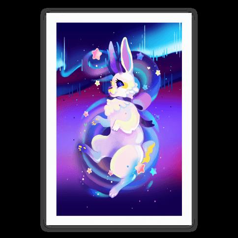 Neon Rainbow Jackalope Poster