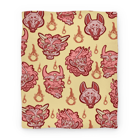 Oni Demons Pattern Blanket