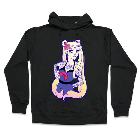 Punk Sailor Moon Hooded Sweatshirt