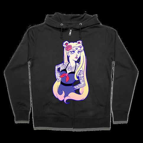 Punk Sailor Moon Zip Hoodie