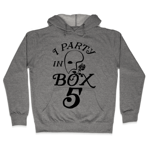 I Party In Box 5 Hooded Sweatshirt