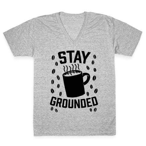 Stay Grounded V-Neck Tee Shirt