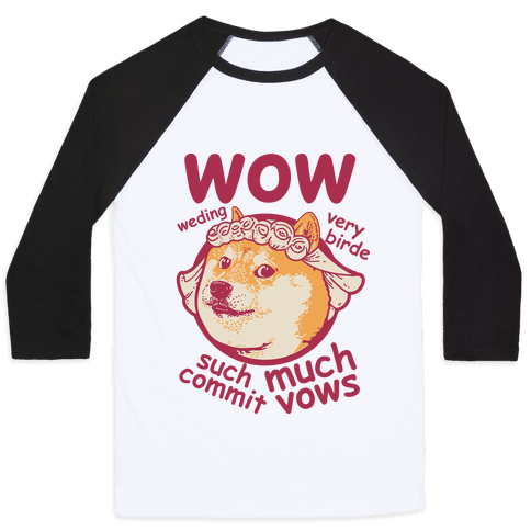 Wedding Doge Baseball Tee