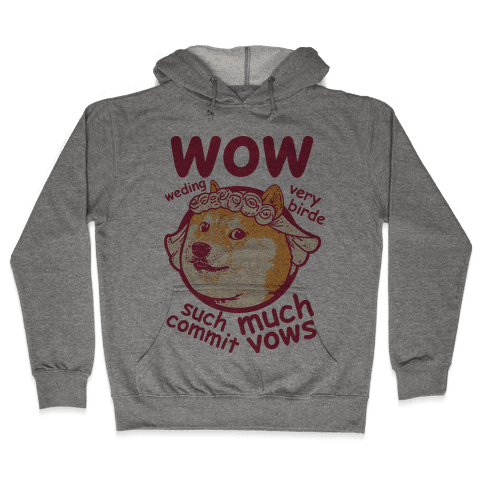 Wedding Doge Hooded Sweatshirt