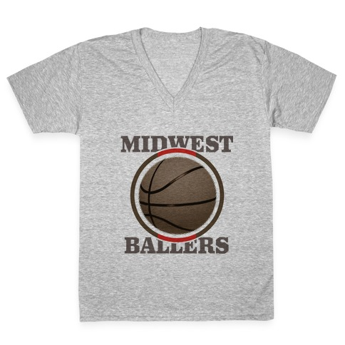 Midwest Ballers V-Neck Tee Shirt
