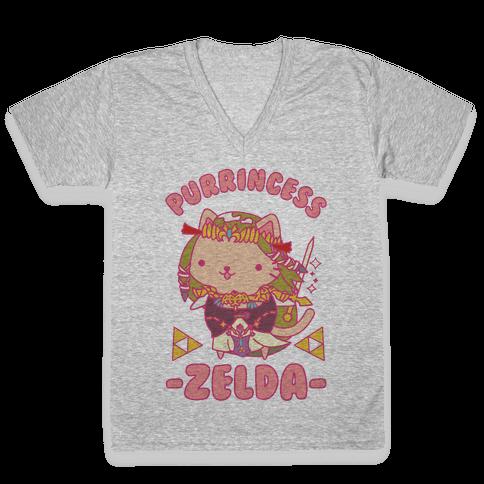 Purrincess Zelda V-Neck Tee Shirt