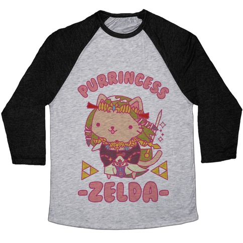 Purrincess Zelda Baseball Tee