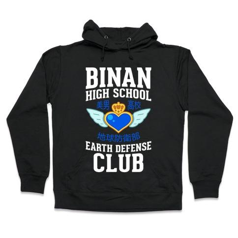 Binan High School Earth Defense Club (Blue) Hooded Sweatshirt