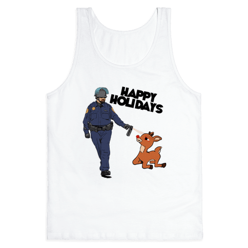 Officer Pikes Christmas Present Tank Top