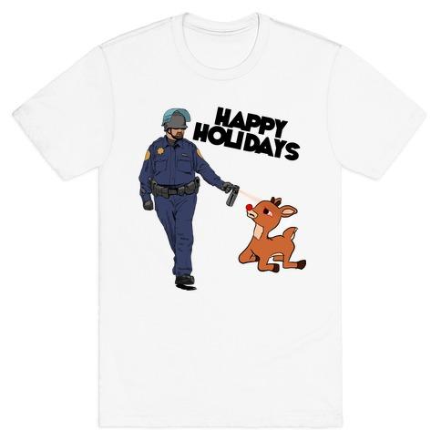Officer Pikes Christmas Present T-Shirt