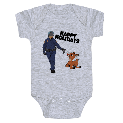 Officer Pikes Christmas Present Baby Onesy