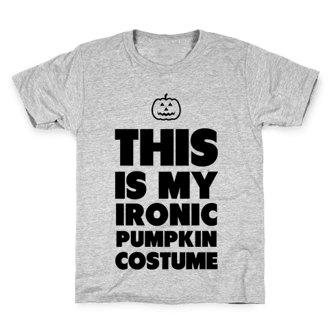 Ironic Pumpkin Costume Kids T-Shirt