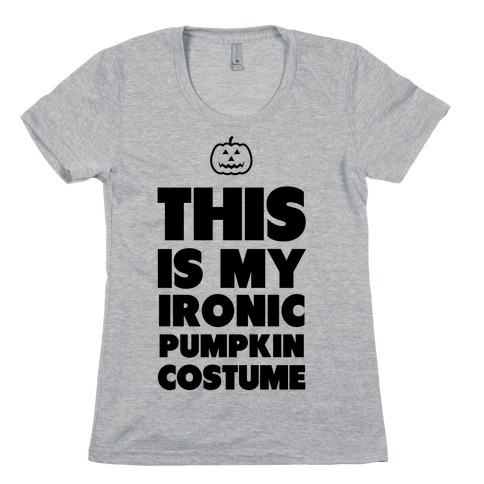 9d265285 Ironic Pumpkin Costume T-Shirt | LookHUMAN