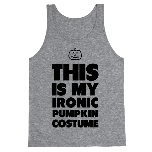 Ironic Pumpkin Costume Tank Top