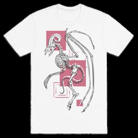 Jersey Devil Skeleton Mens T-Shirt