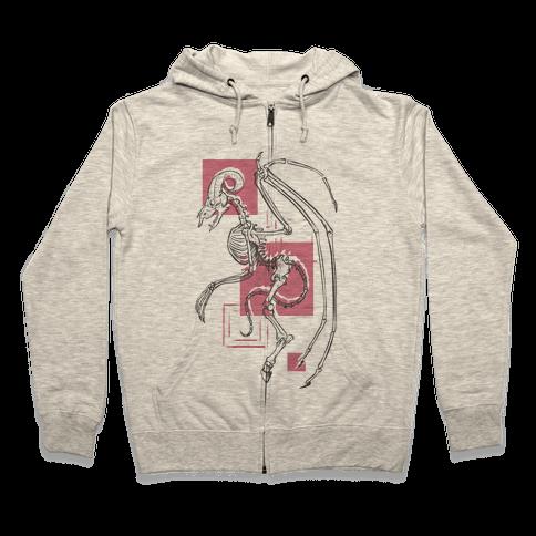 Jersey Devil Skeleton Zip Hoodie