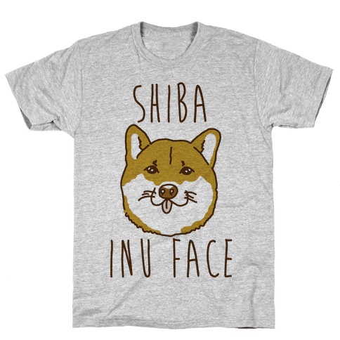 Shiba Inu Face Mens T-Shirt