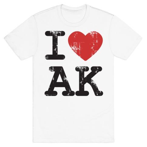 I love Alaska Mens T-Shirt
