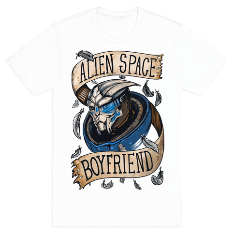 Alien Space Boyfriend (Garrus) Mens T-Shirt