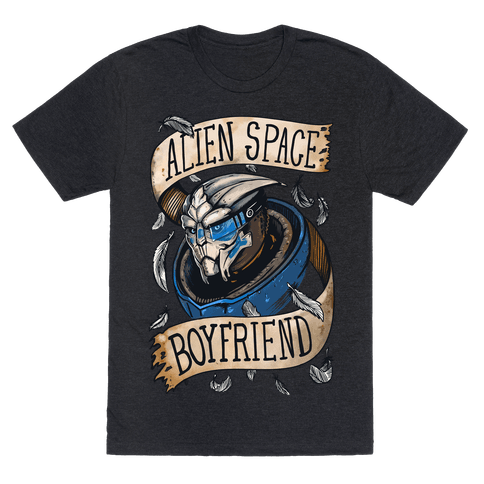 Alien Space Boyfriend (Garrus) Mens T-Shirt
