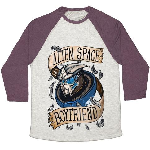 Alien Space Boyfriend (Garrus) Baseball Tee