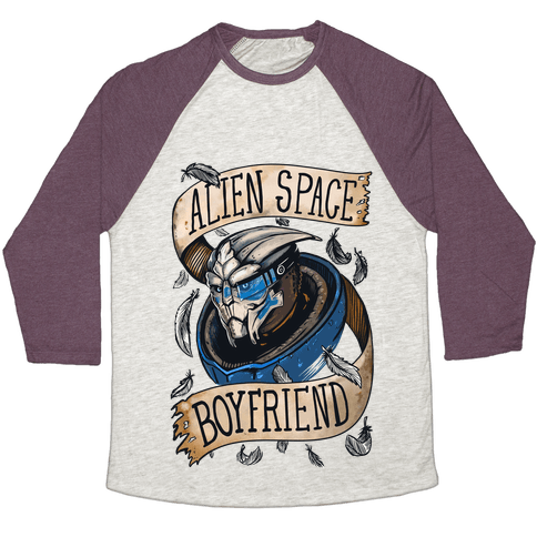 Alien Space Boyfriend (Garrus) Baseball Tee
