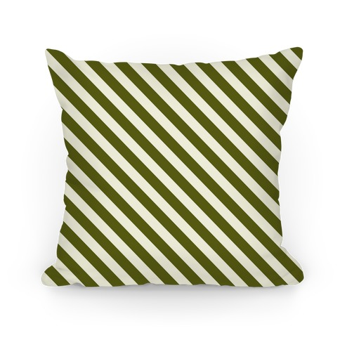 Green Stripe Pattern Pillow