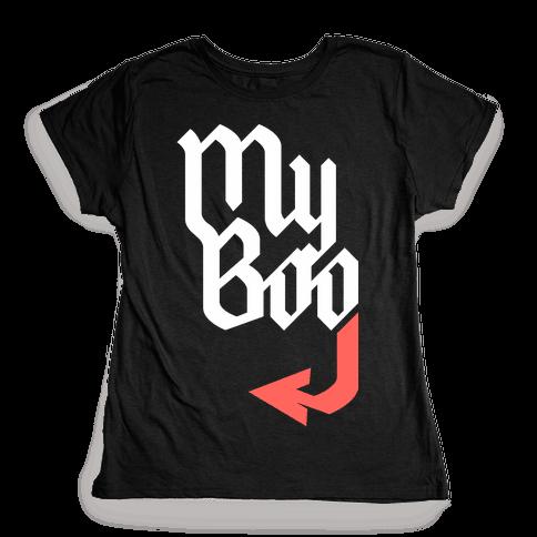 My Boo (Black Red) Womens T-Shirt